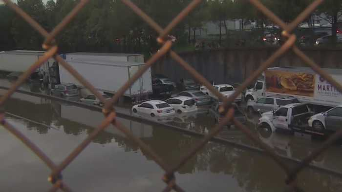 Texas Deluged With Remnants Of Tropical Storm Imelda
