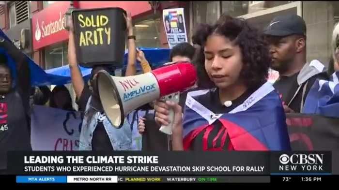 Teen Affected By Hurricanes Sandy & Maria Fighting To Address Climate Change