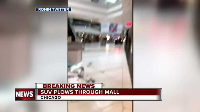 SUV plows through Woodfield Mall outside of Chicago