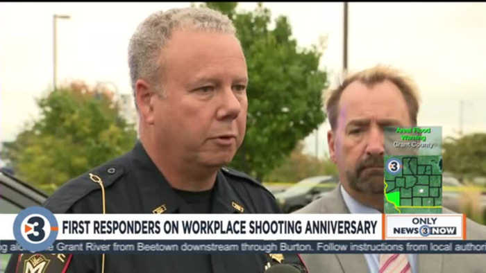 Hear first responders recount, reflect one year after the workplace shooting in Middleton