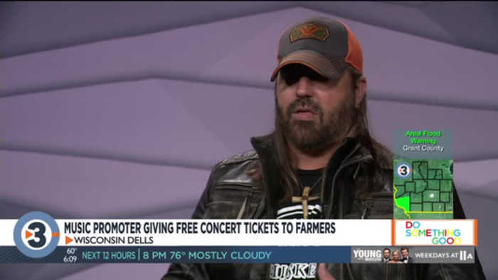 Local music promoter gives back to farmers with free concert tickets