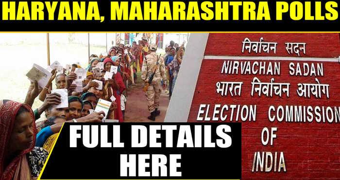 EC announces Haryana, Maharashtra assembly election dates