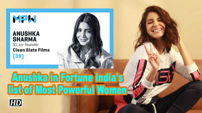 Anushka Sharma in Fortune India's list of Most Powerful Women