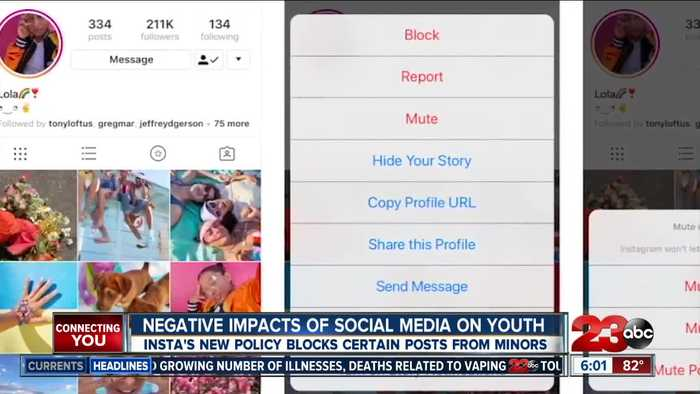 Instagram rolls out new policy that will block certain posts from minors