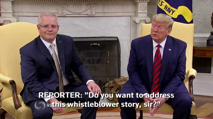Trump calls whistleblower story 'political hack job'