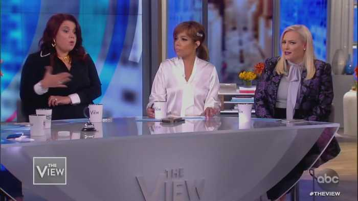 McCain and Navarro clash on 'The View' over Trump whistleblower