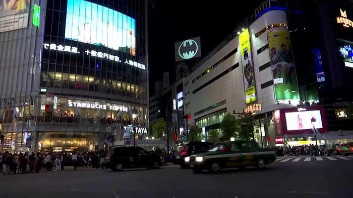 'Bat-Signal' shines light on Batman's 80th anniversary in Tokyo