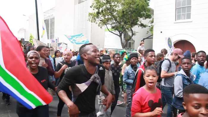 Thousands march in Cape Town during global climate strike
