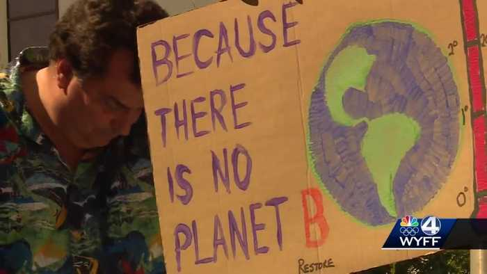 Clemson University students take part in Global Climate Strike