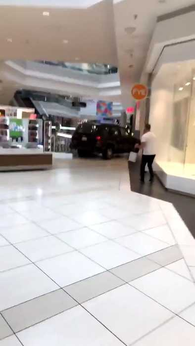 Man Crashes SUV Into Kiosks and Stores Inside Mall