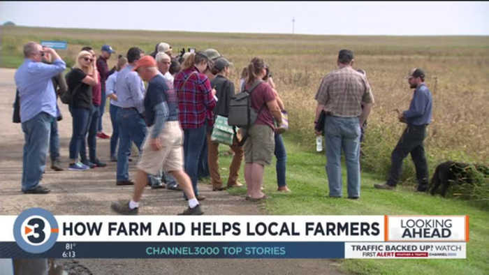 'They're in there helping the little guy': Janesville farmer explains how Farm Aid 2019 helps him