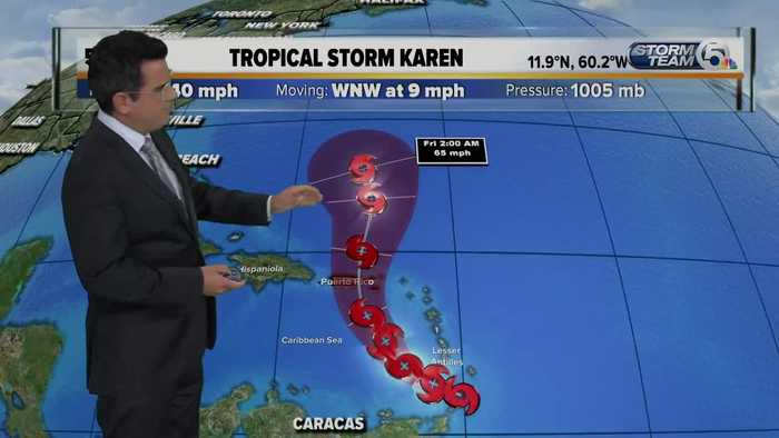 Tropical Storm Karen update 9/22/19