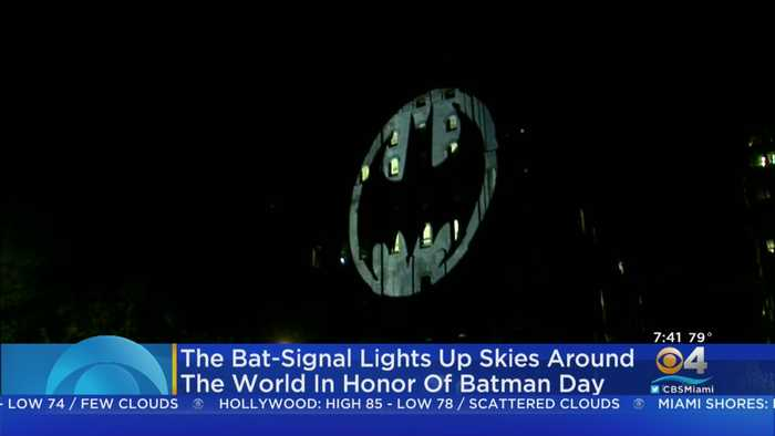 The Bat-Signal Lights Up Skies Around The World In Honor Of Batman Day