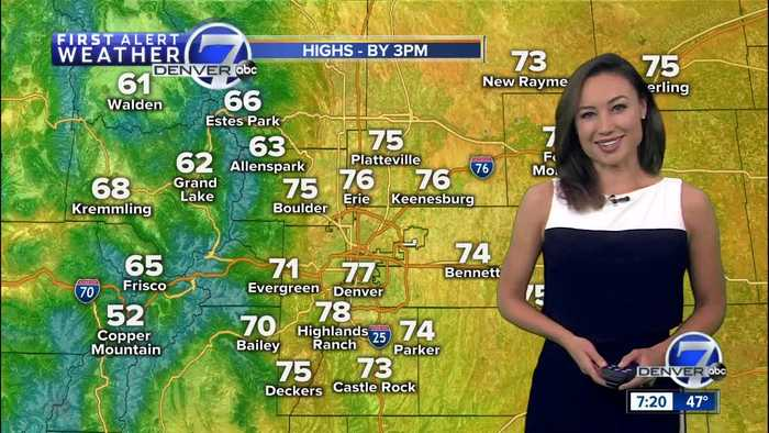 A sunny and comfortable Sunday in store for Denver