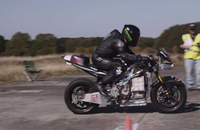 Electric motorbike world speed record broken