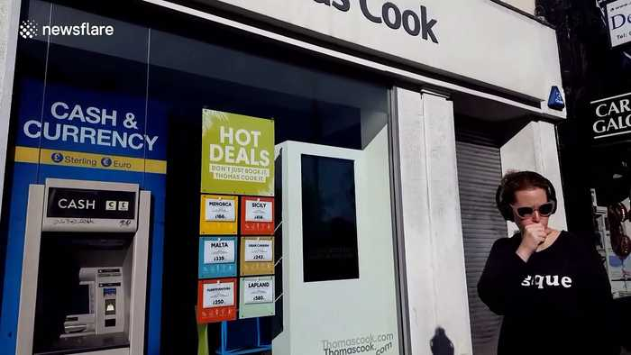 North London Thomas Cook branch closed as company goes bust