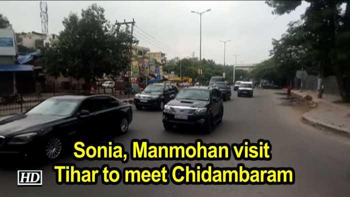 Sonia, Manmohan visit Tihar to meet Chidambaram