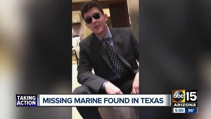 Missing Arizona Marine found safe in Texas