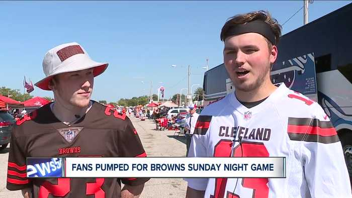 Browns fans pumped for Sunday night football game against Rams