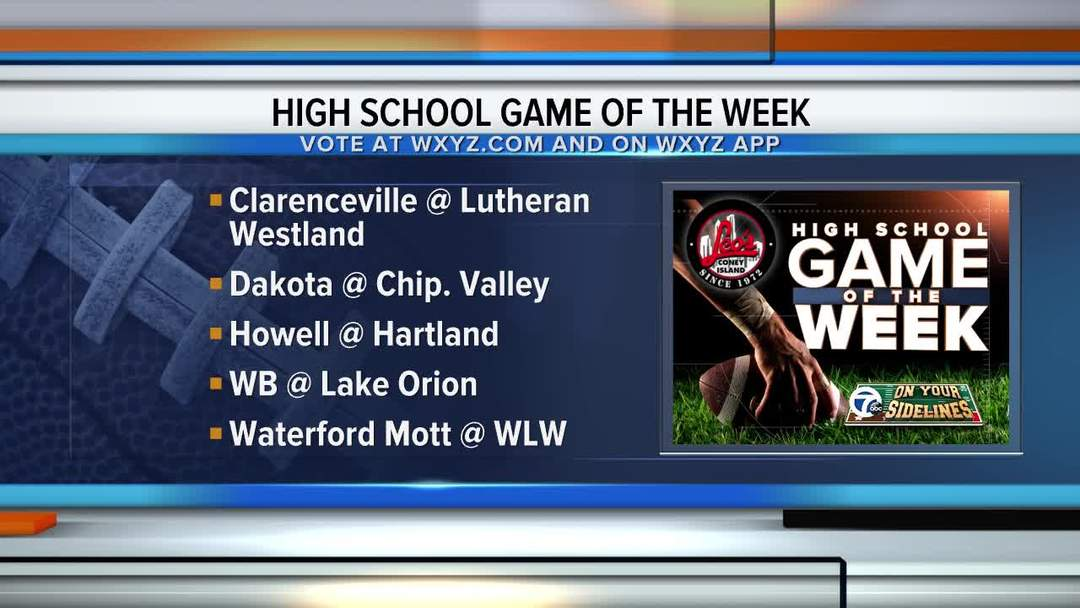 Voting open for WXYZ Game of the Week (2019 Week 5)