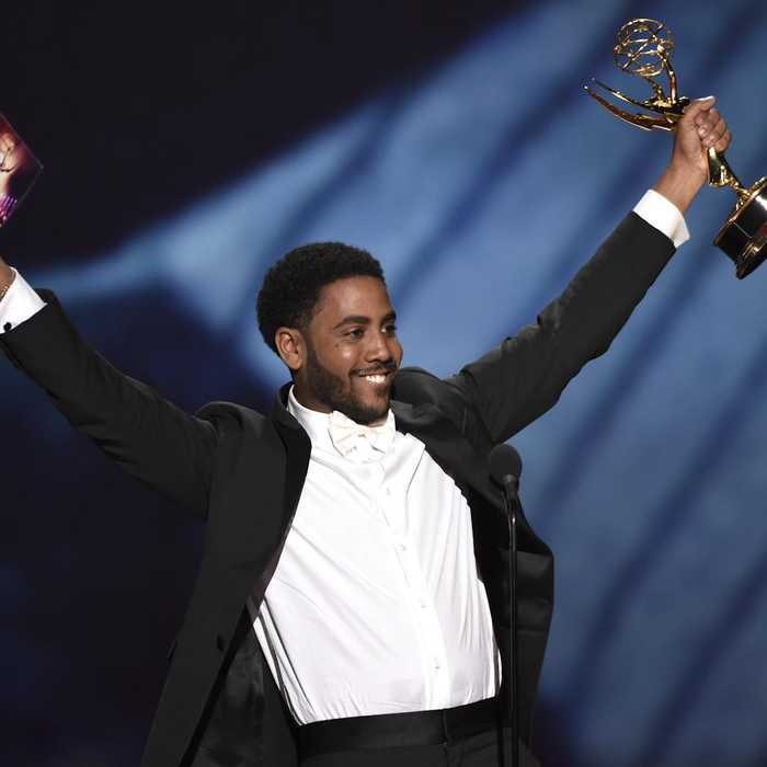 See the emotional moment Jharrel Jerome dedicates Emmy win to Central Park Five