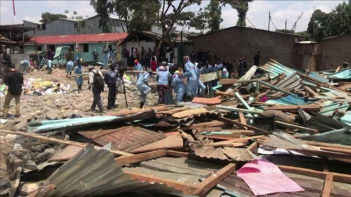 Rescuers clear debris after Kenya school collapse