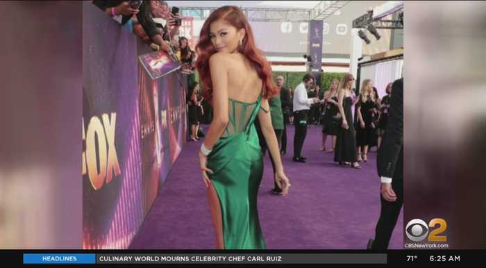 Stars Rock Purple Carpet At Emmy Awards