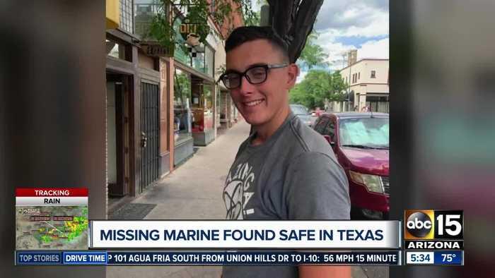 Missing Marine found safe in Texas