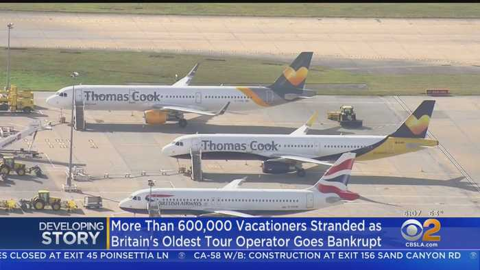 British Travel Firm Thomas Cook Collapses, Leaving Thousands Stranded