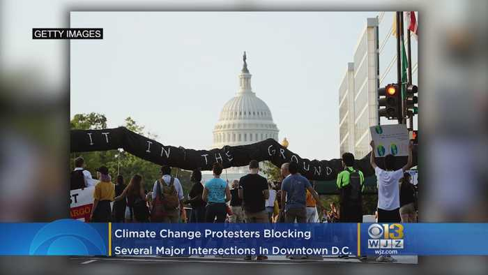 #ShutdownDC | Climate Strike Demonstrations Causing Traffic Woes In Downtown DC