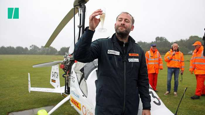 British Adventurer Becomes First Person To Fly Solo Around The World In Gyrocopter