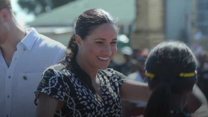 Duchess of Sussex gives emotional speech on arrival in Cape Town