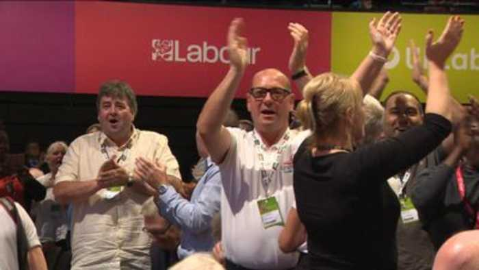 'Oh Jeremy Corbyn' sung as NEC motion passes