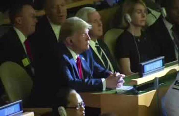 Trump unexpectedly drops by U.N. climate summit