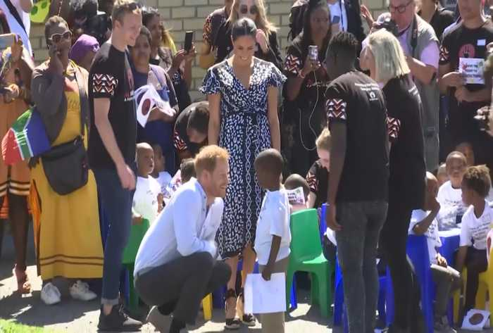Meghan Markle, Prince Harry Dance With Locals In Africa