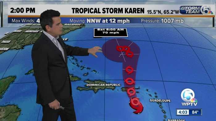 Tropical Storm Lorenzo forms, Tropical Storm Karen bears watching