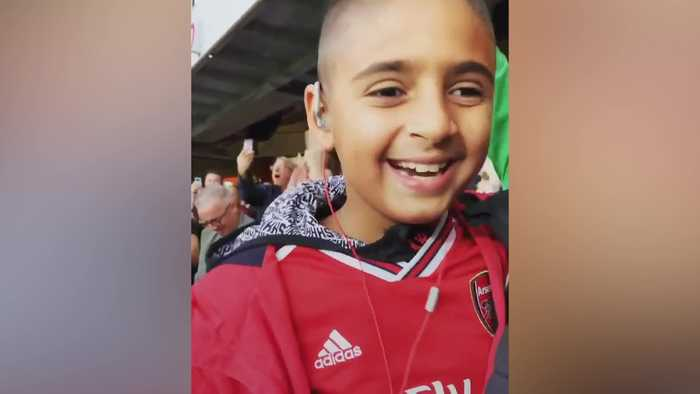 Blind nine-year-old enjoys Arsenal's win