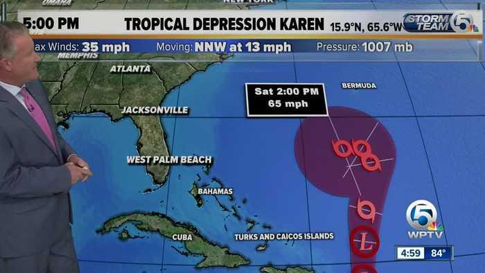 Karen downgraded to depression, but still worth watching