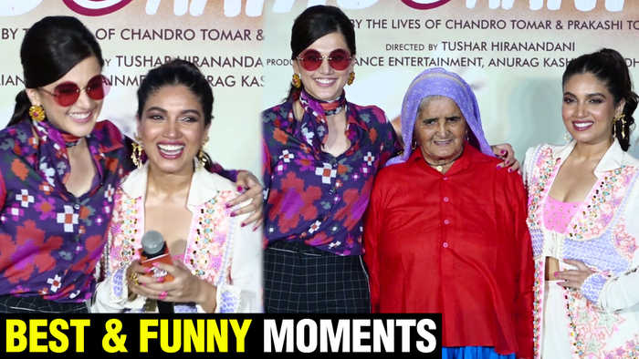 Saandh Ki Aankh Best & Funny Moments With Taapsee Pannu, Bhumi Pednekar | Trailer Launch