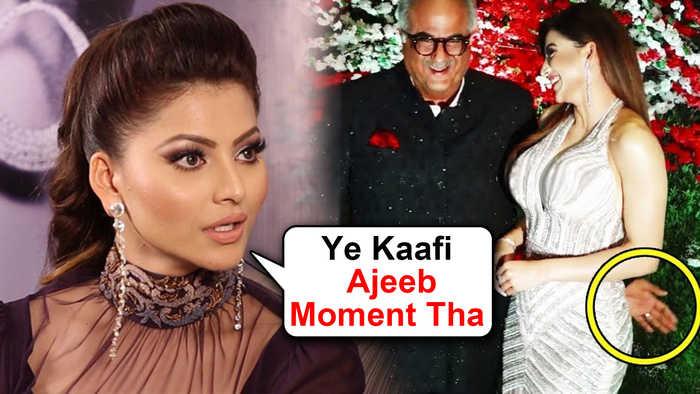 Urvashi Rautela ANGRY REACTION On Boney Kapoor BUTT Touching Video