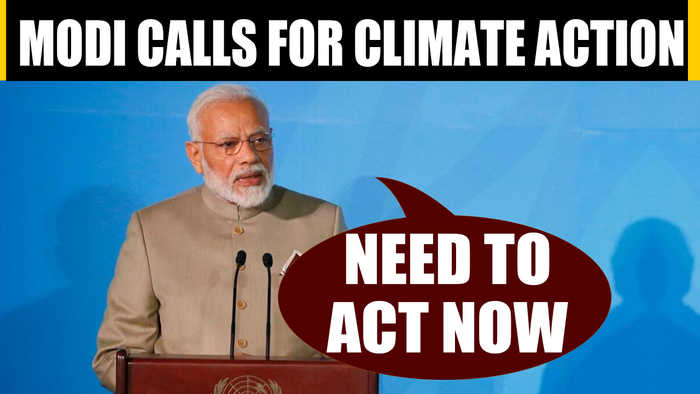 PM Modi speaks at UN climate summit, says time to ACT now |OneIndia News