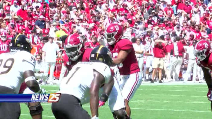Alabama offense overwhelms Southern Miss