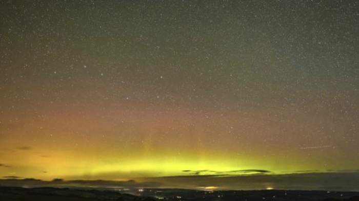 Light Show! Camera Captures The Northern Lights Setting The Dark Sky Aglow!