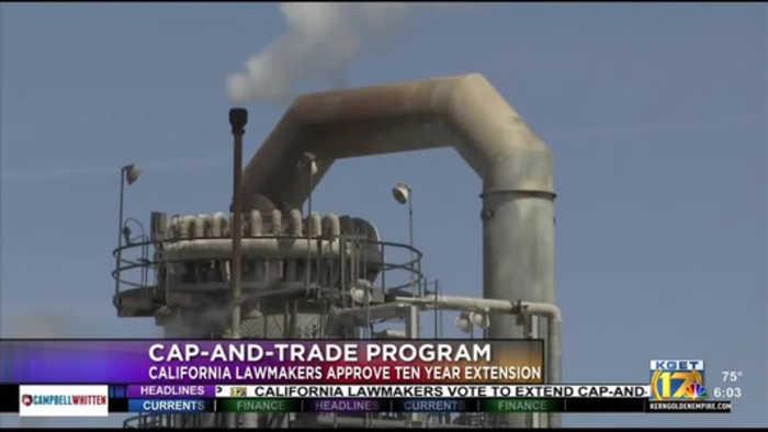 State legislature passes cap and trade extension