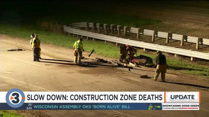 Officials tell drivers to slow down in work zones following two deaths within an hour