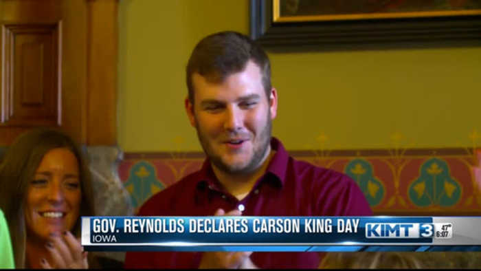 Gov. Reynolds: Carson King Day will be Saturday
