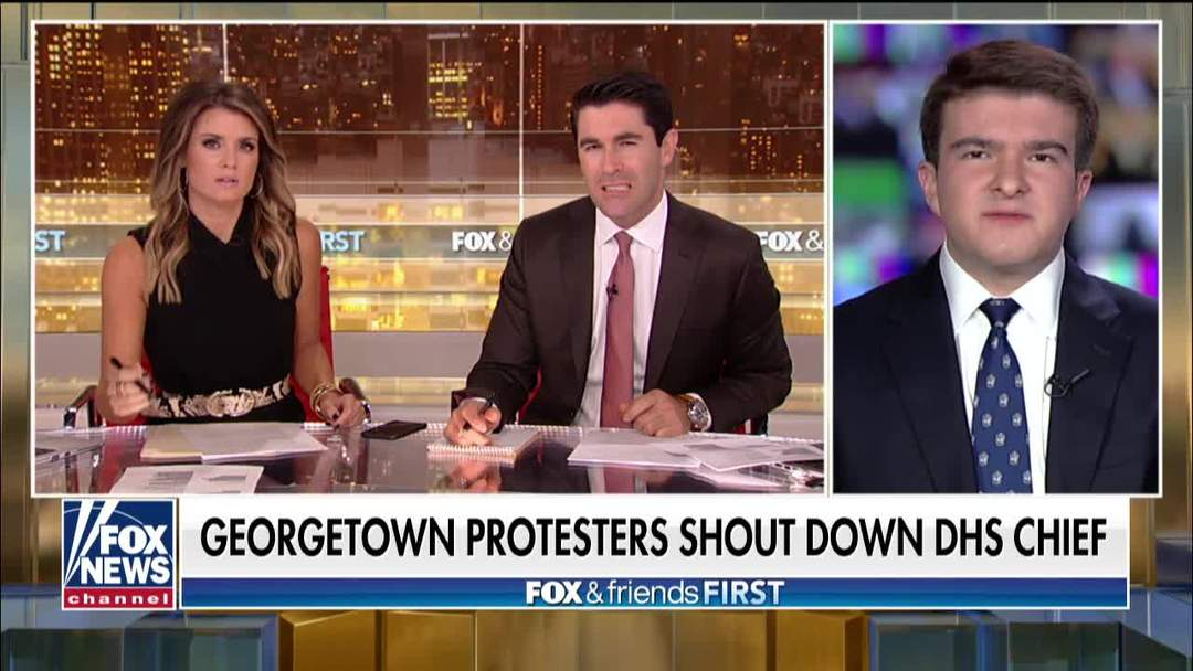 Georgetown University student criticizes protesters who shut down DHS Sec.