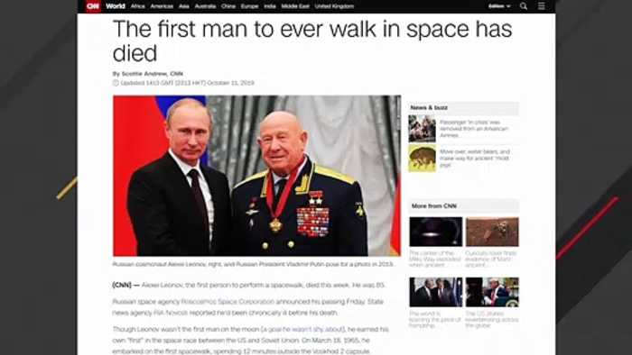 Alexei Leonov, First Man To Ever Walk In Space, Dies At 85