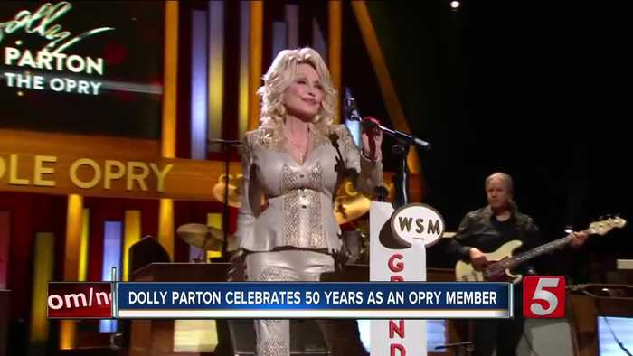 Dolly Parton celebrates 50 years as Grand Ole Opry member