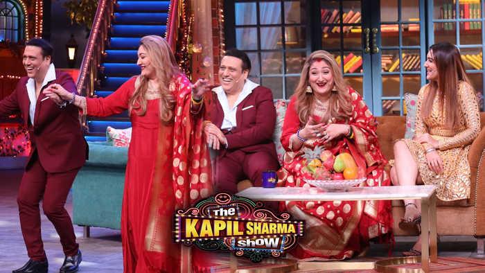 Govinda With Wife Sunita And Daughter Tina In The Kapil Sharma Show